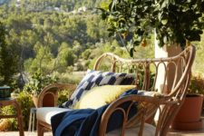 27 chic rattan sofa from the new Jassa collection with boho textiles
