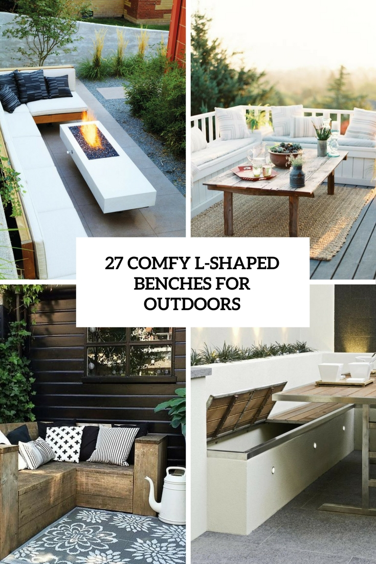 comfy l shaped benches for outdoors cover