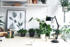 27 some potted plants make this workspace inviting