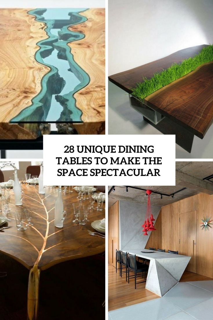 28 unique dining tables to make the space spectacular digsdigs Unique wooden furniture
