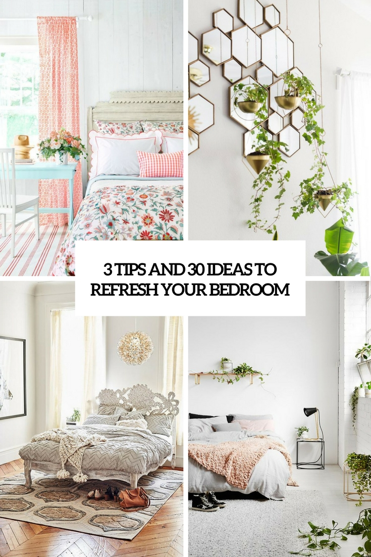 3 tips and 30 ideas to refresh your bedroom cover