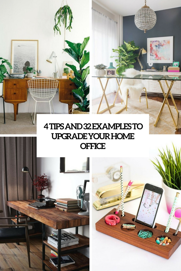 4 Tips And 32 Examples To Upgrade Your Home Office