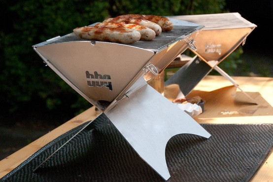 portable and easy to assemble industrial grill by Philipp Sack (via www.digsdigs.com)