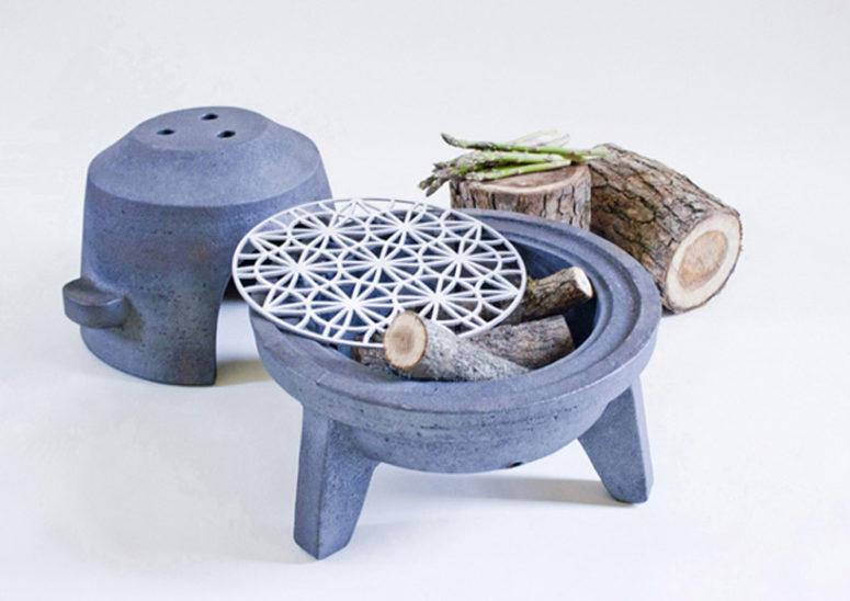 Grill Wood Stoveby Barbara Adamonyte (via www.designboom.com)