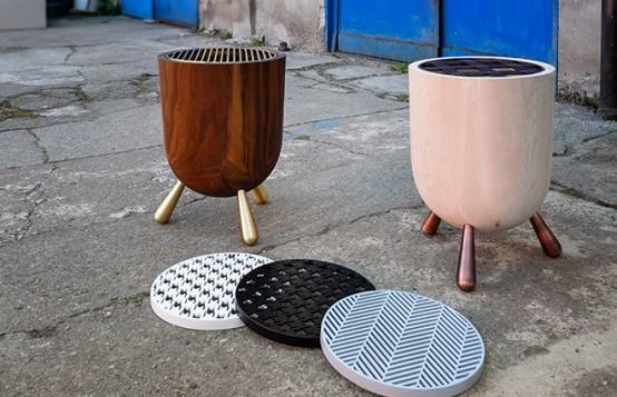 portable Mangal grill from Cisim Design (via www.digsdigs.com)