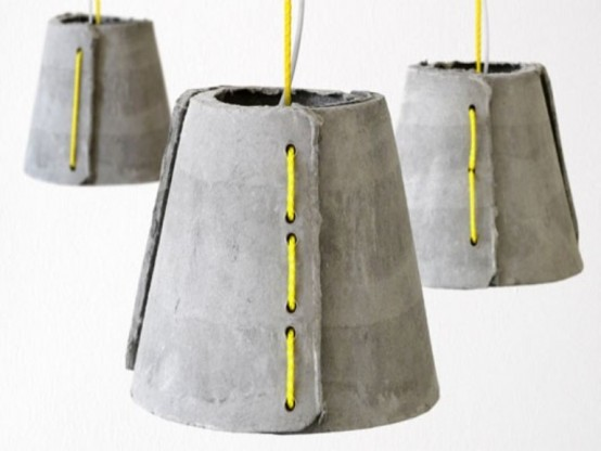 concrete outdoor pendant lamps by Rainer Mutsch