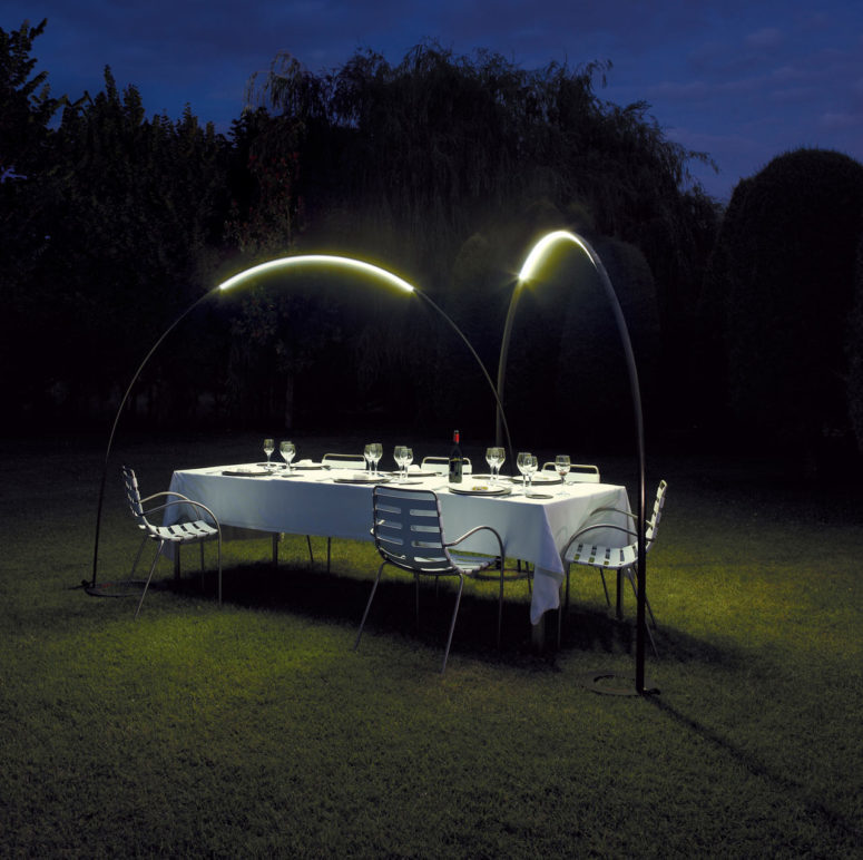 Halley lighting arch by Jordi Vilardell and Meritxell Vidal (via www.digsdigs.com)