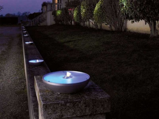 Pollicino outdoor lights by Antonangeli Illuminazione (via www.digsdigs.com)