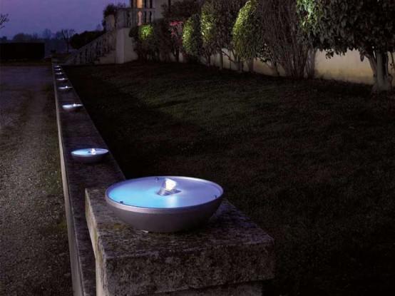 Pollicino outdoor lights by Antonangeli Illuminazione (via www.digsdigs.com)