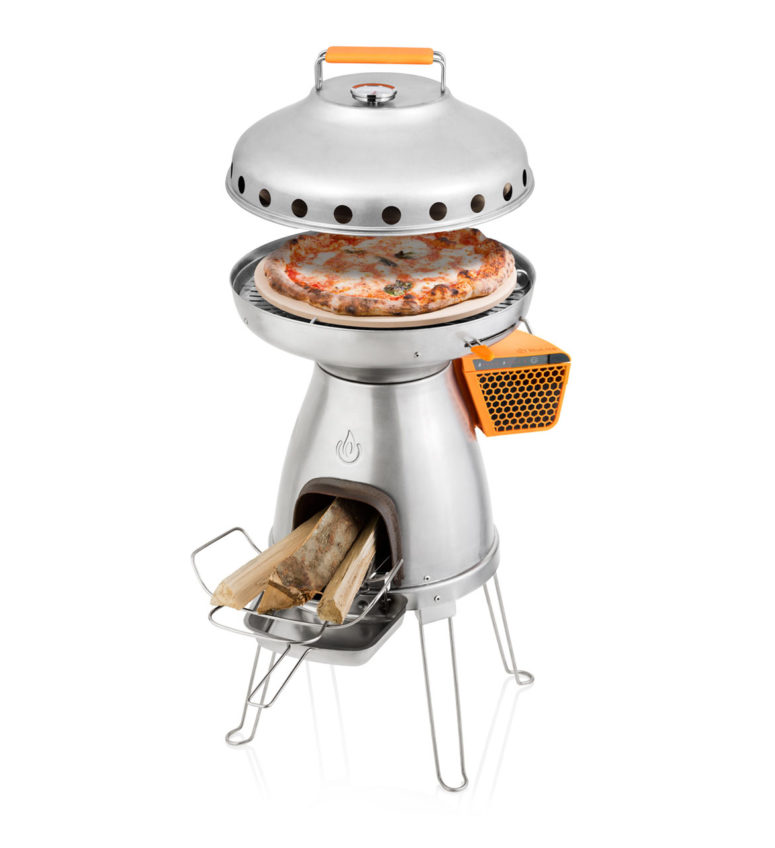BaseCamp stove and PizzaDome addition by BioLite (via www.digsdigs.com)