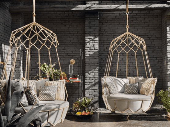 rattan garden furniture collection by Roberti (via www.digsdigs.com)