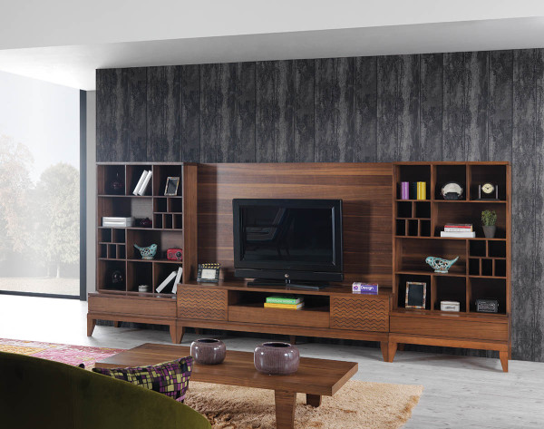 versatile Truva Wall Unit by N Design (via www.furniturefashion.com)