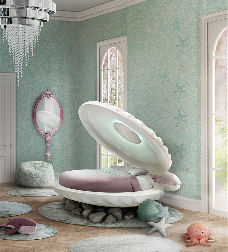 Little Mermaid bed for girls' rooms (via www.circu.net)