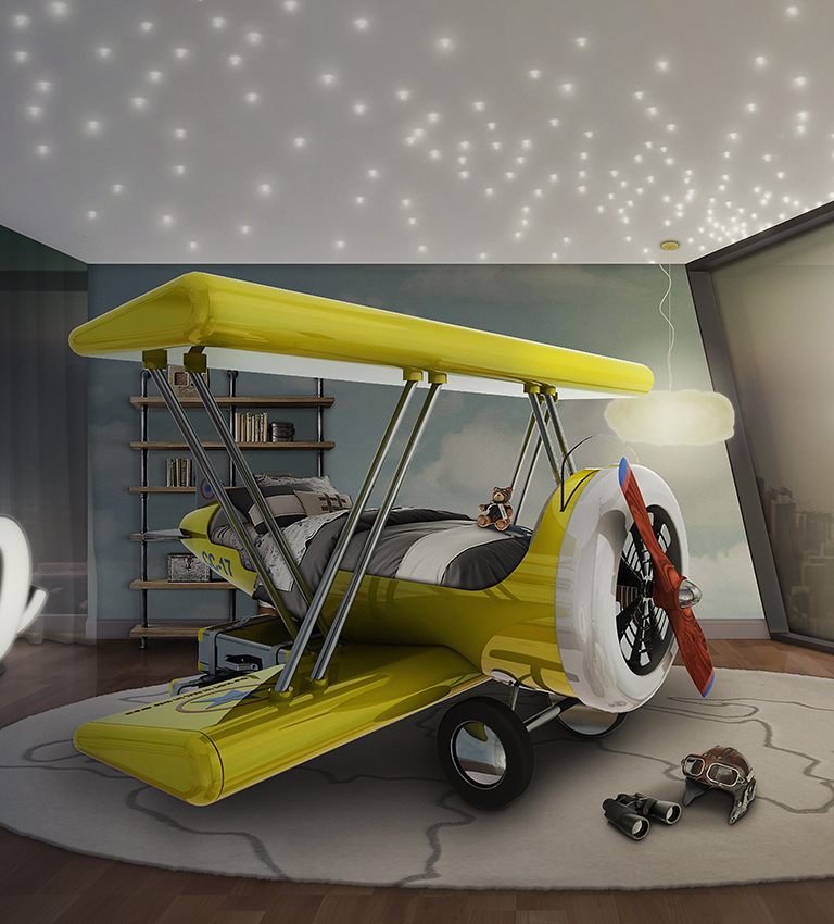 Sky B Plane Bed (via circu.net)
