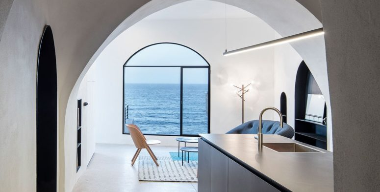Modern Cave House With Sea Views