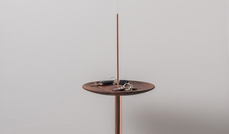 Suspended Circulum Shelf For Saving Space
