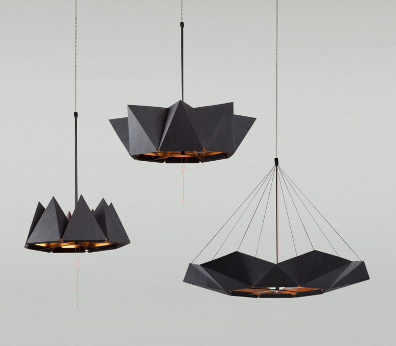 pendant mater products black ray lamp