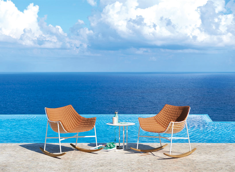 Summerset Rocking Armchairs are ideal for outdoors and can easily fit any modern space thanks to their design