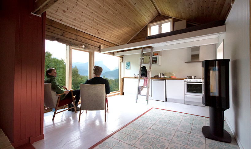 This Scandinavian dwellign was renovated into a more functional and open plan cabin with cool views