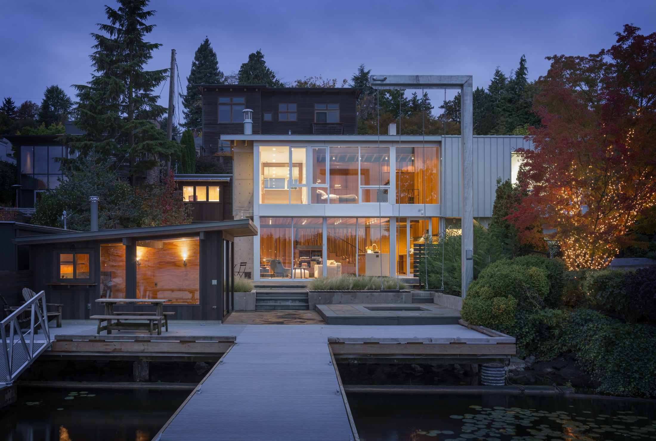 This home belongs to a bachelor that appreciates privacy, comfort and wanted to get the most of bay views
