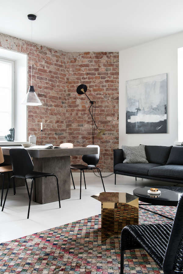 Monochrome Home With Industrial Touches