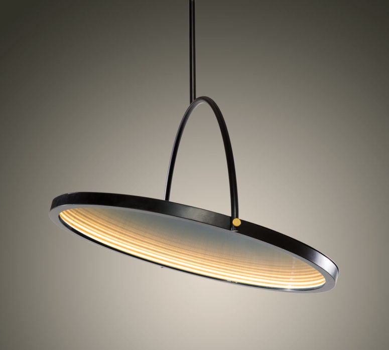 OBLIO: A Pendant Lamp And A Mirror In One