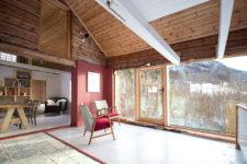 glazed living room wall