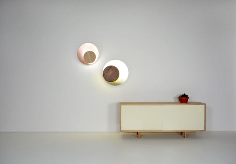 Each piece  consists of solid wood and metal, there are different shades available