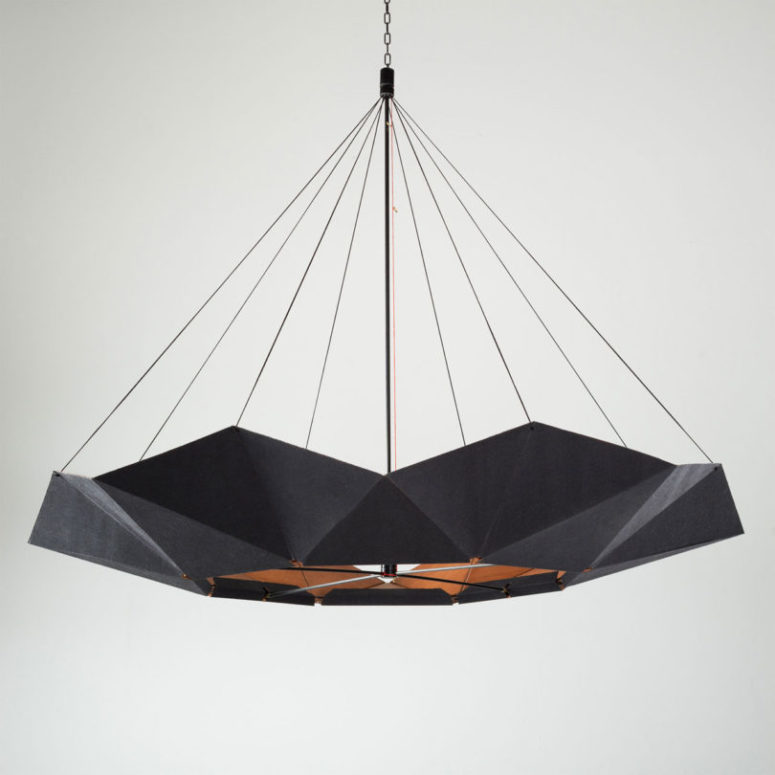 The lamp can be stretched - enlarged or made smaller by using Invertible Disc, this is a creation of the studio