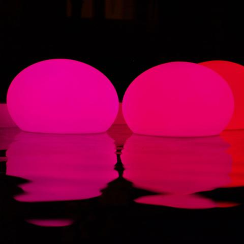 It can be even used in water, and there are 4 different sizes available, so spoil yourself with this unusual lamp and its soft light