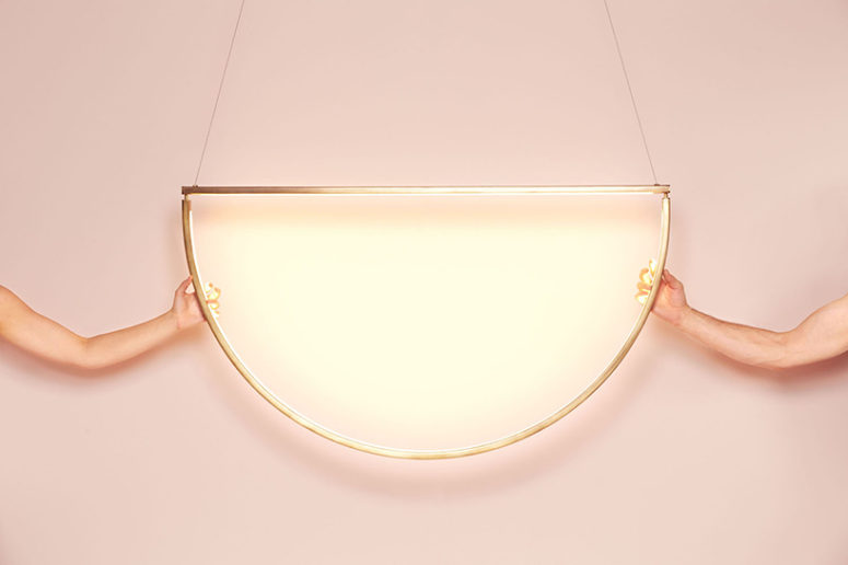 Such a lamp is great for modern interiors, it will bring a chic glam yet modern touch, wherever you hang it