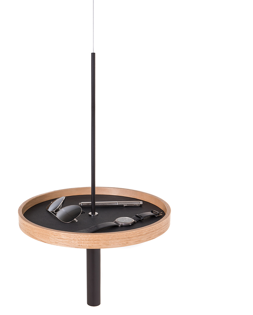 Look at this matte black tubing, leather and light colored wood version, so chic and textural
