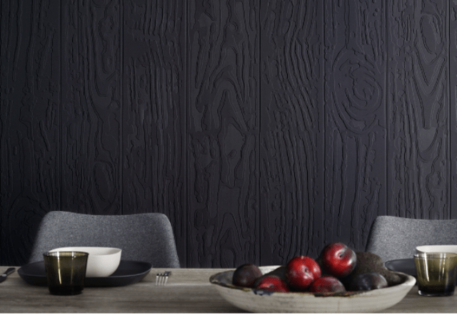 Peace Wood has a sanded wood effect and also acoustic properties