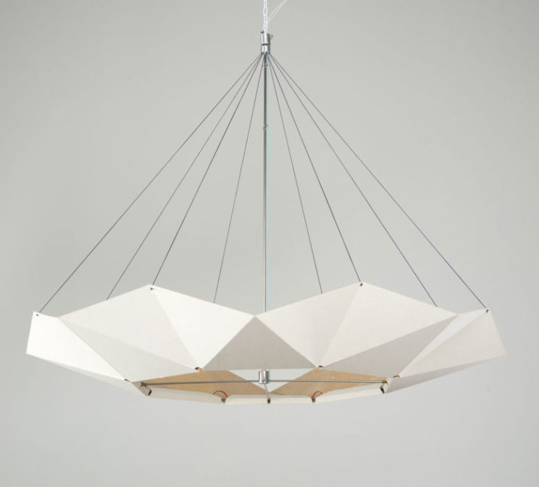 There are a black and white version of this lamp to fit any modern space