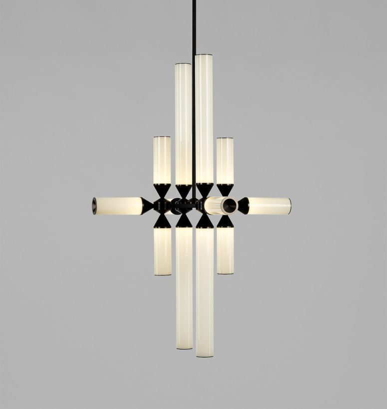 There are chandeliers with 9, 12 and 18 pieces to choose from