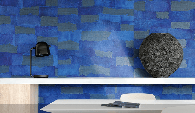 Oceania is assembled of paper and Abaca weave, 100% natural material