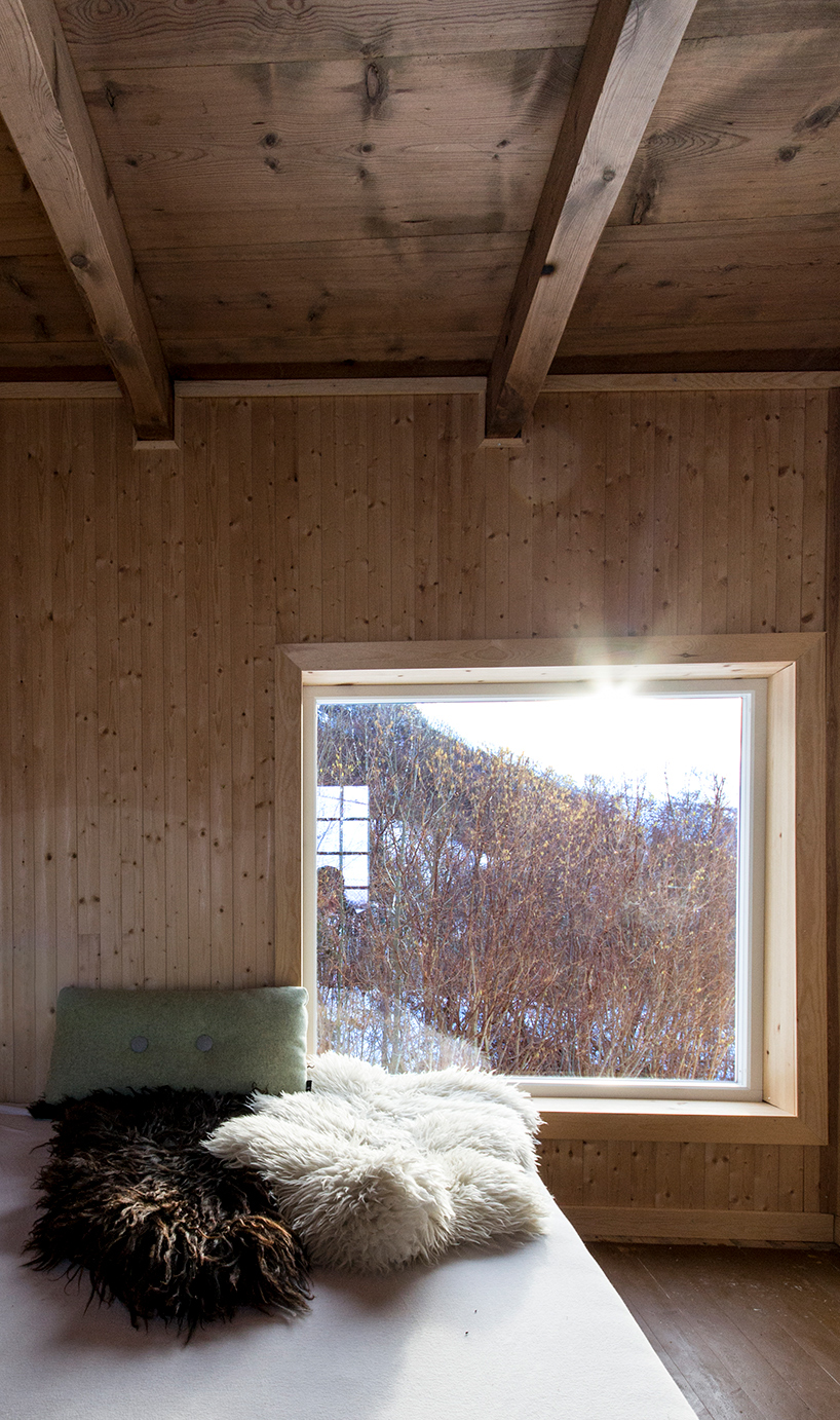 The interiors were generously covered with natural light colored wood
