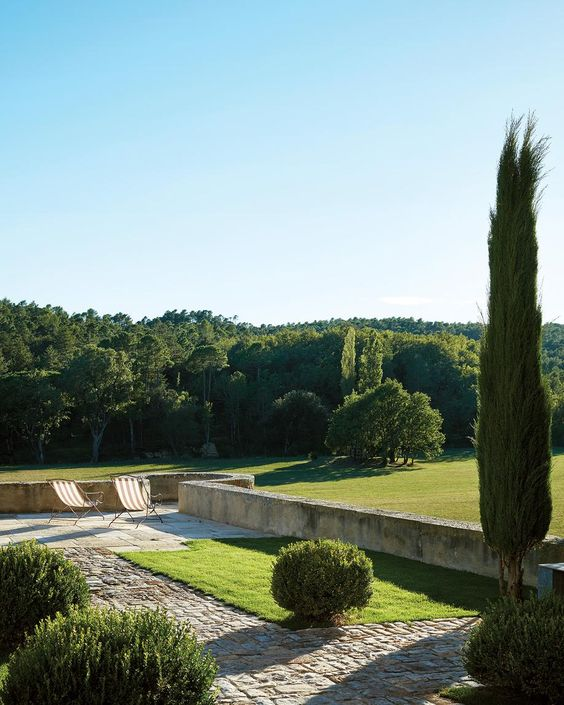 The landscape outdoors is beautiful Provence that inspires a lot