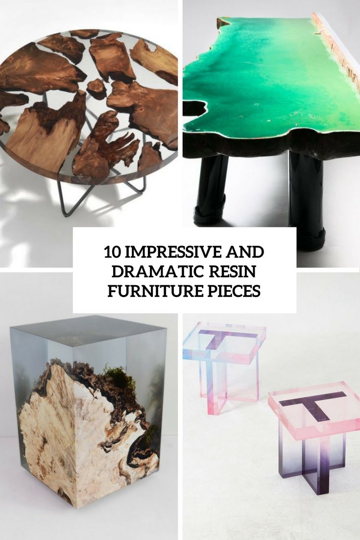 10 Impressive And Dramatic Resin Furniture Pieces