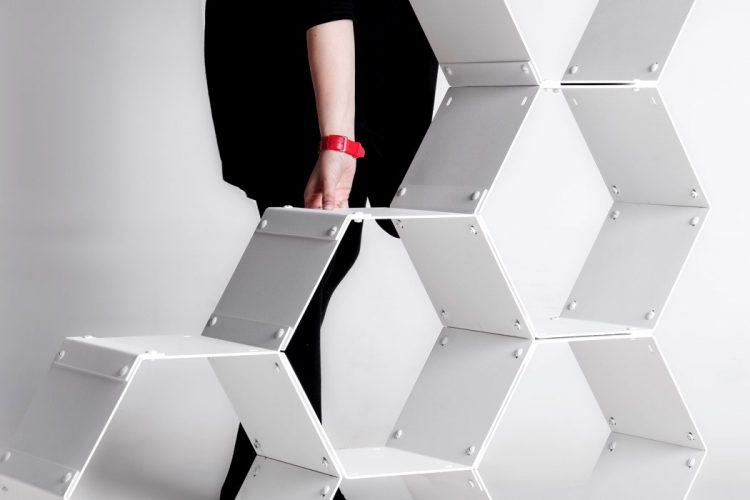Graphite modular shelving by GRAPHITE (via www.digsdigs.com)