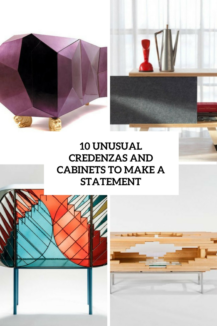 unusual credenzas and cabinets to make a statement cover