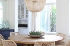 10 wicker chairs will make the dining space cozier and more inviting