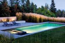 14 underwater pool lights in the pool and jacuzzi – you don't need more