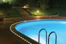 15 solar rope lights are perfect for lining up your pool and accentuating it