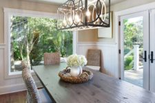 20 unique lighting fixture makes this area not so traditional
