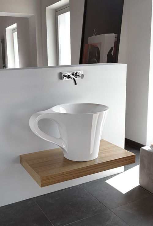 Extraordinary Bathroom Washbasin Sink Cup Shape Furniture Modern Design