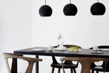 minimalist decor for a dining zone