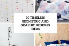 30 timeless geometric and graphic bedding ideas cover