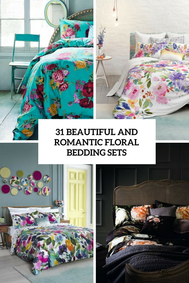 beautiful and romantic florla bedding sets cover