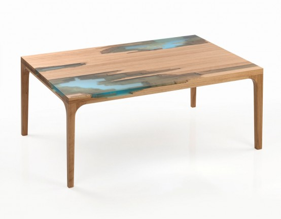 wood and resin table by Manufract (via www.digsdigs.com)